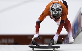Picture helmet, athlete, Skeleton