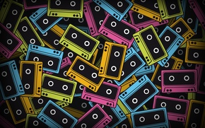 Wallpaper tape, colorful, abstract, colorful, tapes, abstract