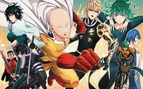 Picture anime, art, characters, Saitama, One Punch Man, Genos, Dream interpretation, Vanpatten