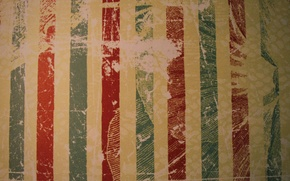 Wallpaper red, vintage, green, shabby, old, strip, vintage