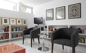 Picture furniture, pictures, white color