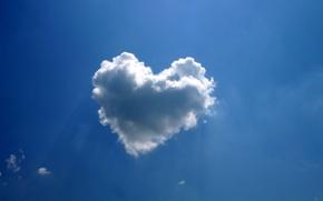 Picture heart, cloud, siniva