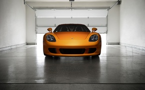 Picture Porsche, Orange, Front, Carrera, Supercar, Garage, Exotic, Borealis, Ligth, Nigth, Arancio