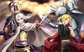 Picture anime, art, Fullmetal alchemist, different, Edward, The Adventures Of Arslan, Arslan, Darin