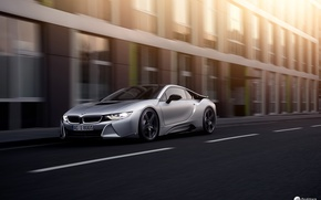 Picture road, the city, BMW