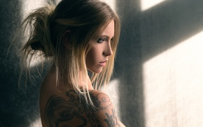 Picture tattoo, the beauty, Joachim Bergauer, Miss you