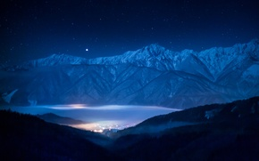 Wallpaper Sirius, mountains, the sky, star, stars, landscape