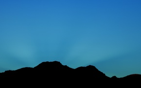 Picture sky, hills, silhouette