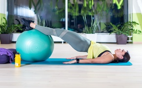 Picture pose, concentration, stretching, pilates