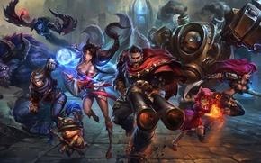Wallpaper the game, fantasy, league of legends, art
