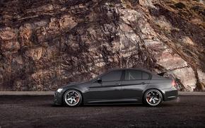 Picture rock, BMW, BMW, black, 335i, E90, 3 Series