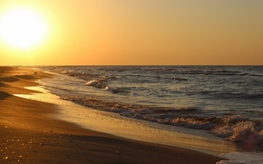 Wallpaper sand, sea, wave, beach, the sun, the ocean, shore, coast, horizon, surf, breeze, splash