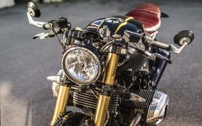 Picture BMW, logo, moto, motorcycle, custom, motorrad, nineT