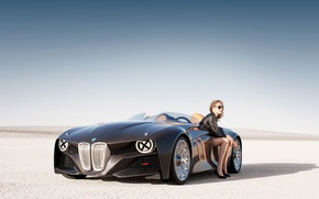 Wallpaper PLAIN, SITTING, Hommage, CARBON fiber, BMW, CONVERTIBLE, SANDS, BLONDE, CASE, CARBON, BMW 328, DRIVES, Sports ...