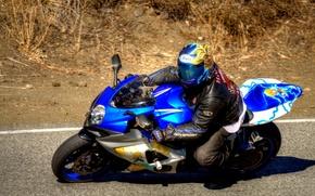 Picture track, Suzuki, racer, Sport Bike, the passage