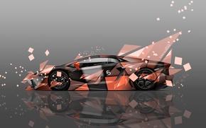 Picture Lamborghini, Orange, Grey, Wallpaper, Background, Fragments, Orange, Car, Art, Abstract, Photoshop, Photoshop, Abstract, Style, Wallpapers, …
