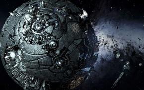 Picture space, fiction, planet