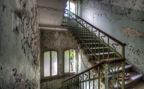 Picture background, interior, ladder