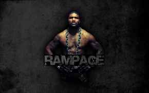 Wallpaper mixed martial arts, mma, ufc, fighter, rampage, quinton jackson, naked torso, muscles, fighter