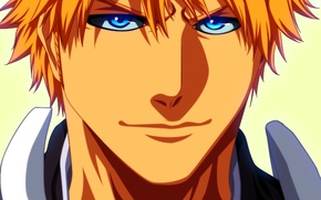 Picture look, art, shinigami, blonde, Ichigo Kurosaki, guy, bleach, anime