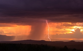 Picture the sky, clouds, clouds, storm, nature, element, lightning, storm, panorama