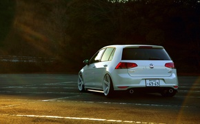 Picture volkswagen, white, Golf, golf, Volkswagen, rear