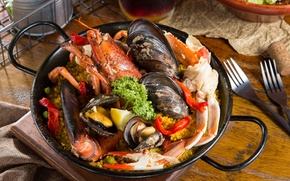 Picture Omar, seafood, porridge, shellfish