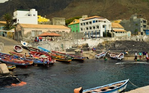 Picture building, boats, The city, harbour, boats, town