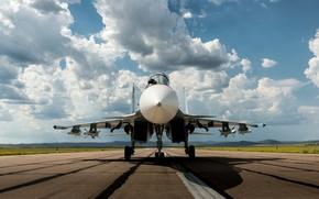 Picture fighter, Russian, multipurpose, double, Su-30CM