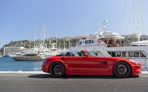 Picture Mercedes-Benz, Red, SLS AMG, Hamann Hawk