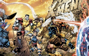 Picture Wolverine, Marvel, Magneto, Beast, Colossus, X-Men