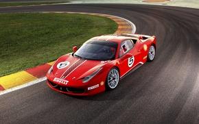 Picture Ferrari, Ferrari, red, track, 458 Challenge 2011
