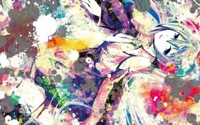 Picture girl, art, vocaloid, hatsune miku, Vocaloid