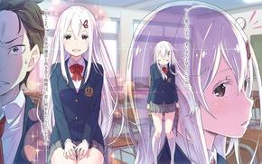 Picture anime, art, Subaru, Emilia, Re: Zero kara hajime chip isek or Seikatsu