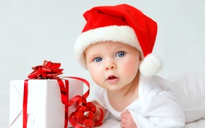 Picture gift, hat, child, baby, Christmas, Christmas, baby, gift, child, baby, infant