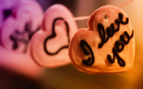 Wallpaper recognition, Valentine's day, thread, 14 Feb, heart, hearts, feeling, love, love, the inscription
