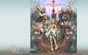 Picture weapons, ship, stockings, boots, neckline, deck, corset, hat, white roses, characters, Granado Espada, Renesance