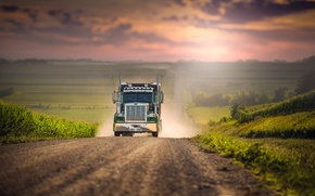 Picture road, space, truck