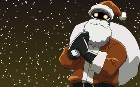 Picture new year, robot, Santa Claus