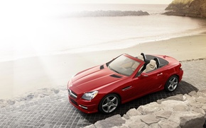 Picture Roadster, Mercedes, Red, Cars, SLK