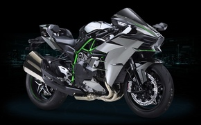 Wallpaper motorcycle, Ninja, powerful, 326 horses, oriental, 998 cc engine with supercharger, asiatic, technology, asian, desing, ...