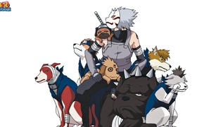 Wallpaper game, Naruto, Hunter, anime, dog, man, tatoo, ninja, Sharingan, mask, Uchiha, manga, shinobi, Kakashi, Hatake, ...