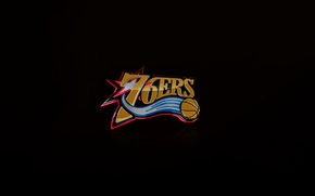 Picture Black, Basketball, Background, Logo, Philadelphia, NBA, Philadelphia Seventy Sixers, Seventy-Six Points