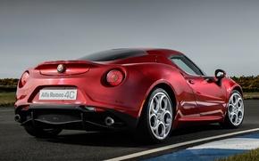 Picture car, red, Alfa romeo