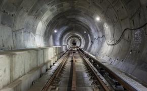 Picture the city, metro, rails