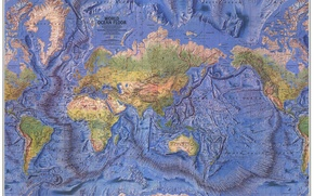 Picture the world, earth, oceans, continents, Atlas, map