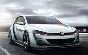 Picture machine, auto, Concept, Wallpaper, Volkswagen, the front, Golf, GTI, Design Vision