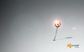 Picture light, ball, flickering, the program, antivirus, avast, avast!