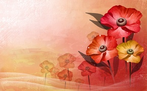 Picture leaves, flowers, background, Wallpaper