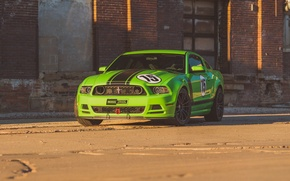 Picture green, mustang, ford, boss 302